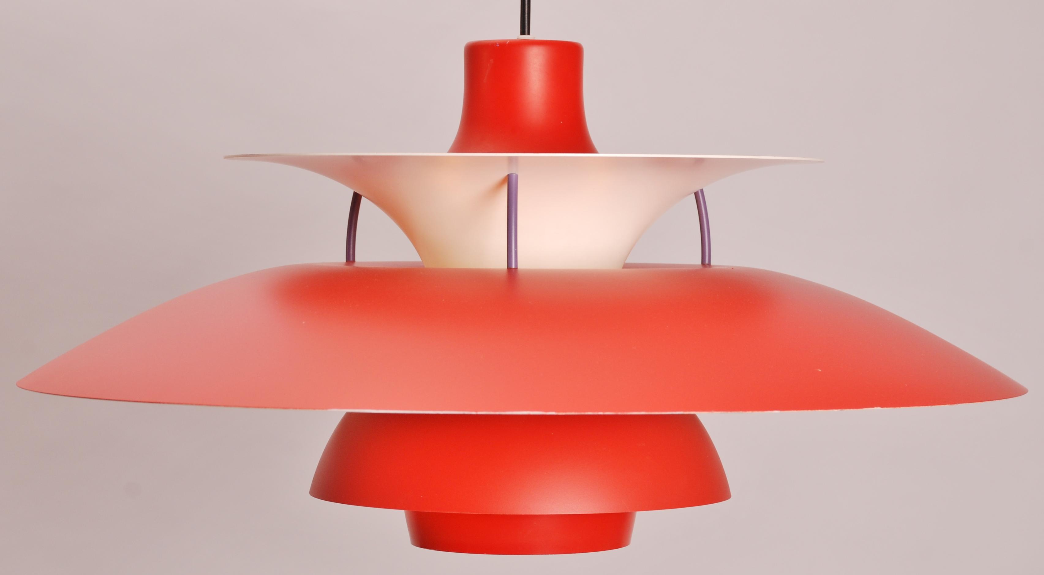 poul henningsen for louis poulsen ph 5 red willem koolmees. Black Bedroom Furniture Sets. Home Design Ideas