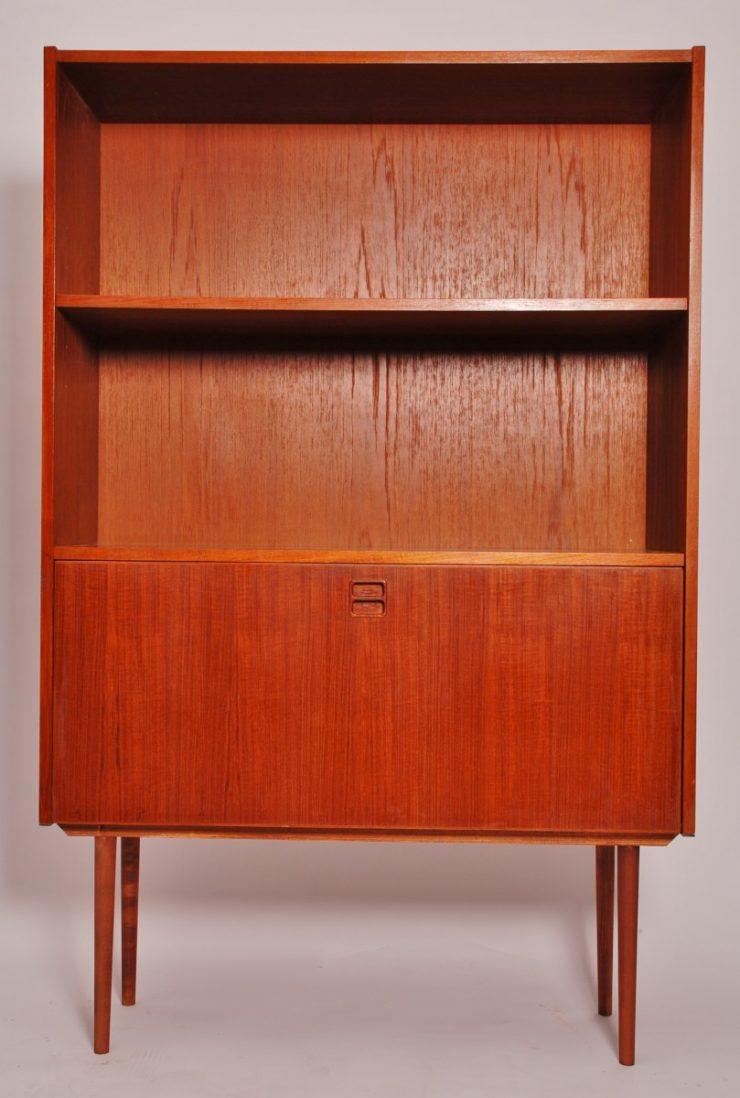 Vintage Teak Veneer Cabinet Denmark Mid Century